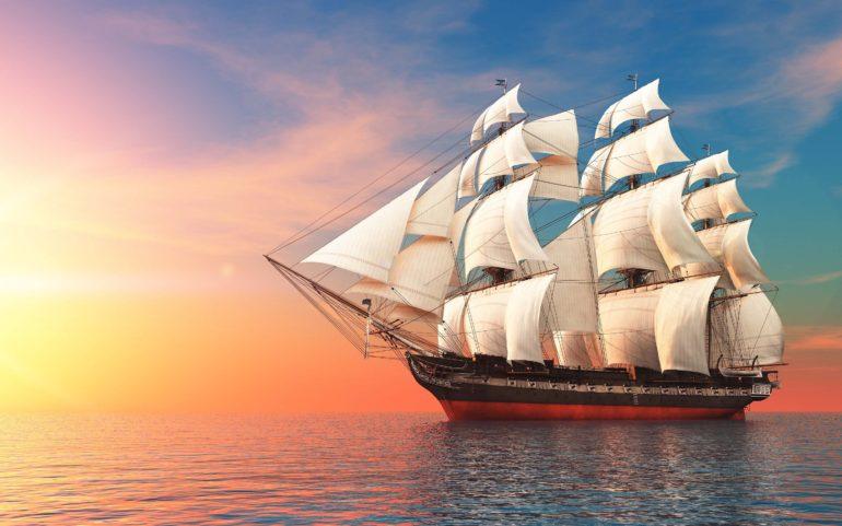 sailing-boat-sun-set-view